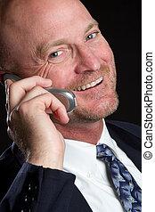 telefon, mann