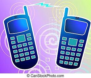 telefon, mozgatható