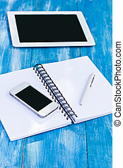 telefon, pc, tagebuch, tablette, beweglich