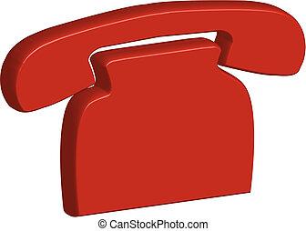 telefon, rød