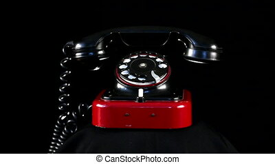 telefon, schleife, retro