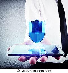 telefon, schutzschirm