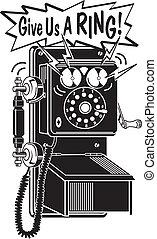 telefon, sztuka, telefon, zacisk