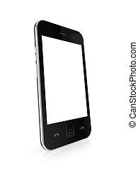 telefon, touchscreen., modern, beweglich