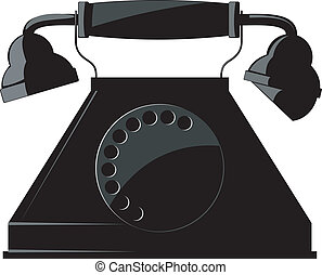 telefon., vektor, altes , abbildung
