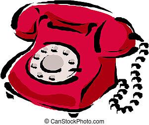telefon, vektor