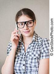 telefon woman, beszéd