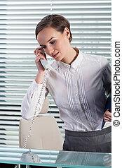 telefon woman, fiatal, beszéd