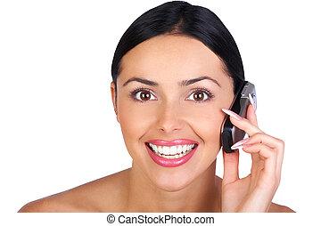 telefon woman, hívás