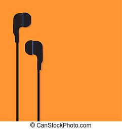 telefonare, orecchio, vettore