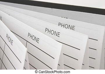 telefonbok, tilltala, &