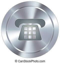 telefone, ícone, ligado, industrial, botão