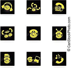 telefone, ícones, ícones