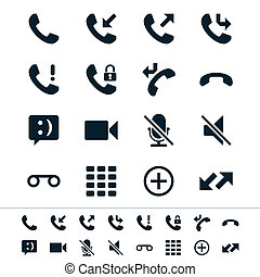 telefone, ícones