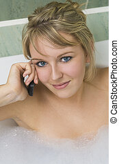 telefone, banho