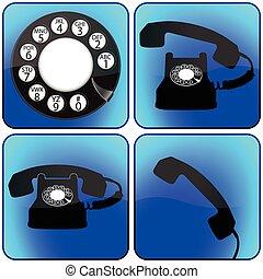 telefone, cobrança, ícones