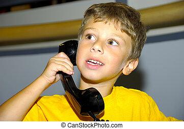 telefone, criança