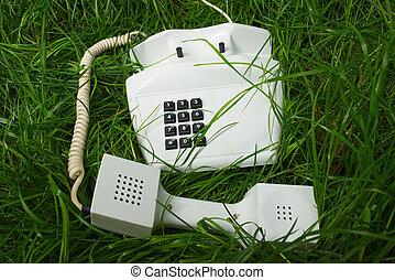 telefone, em, incomum, lugar