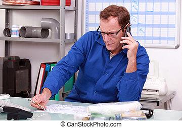 telefone, encanador