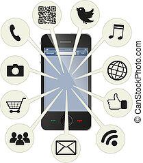 telefone, esperto, social
