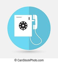telefone, fundo branco, ícone