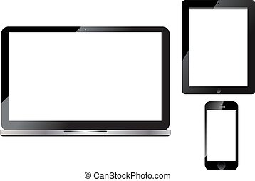 telefone, laptop, tabuleta, esperto