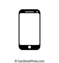 telefone móvel, ícone