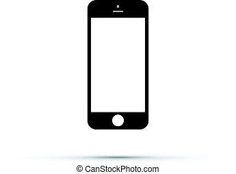 telefone móvel, célula, ícone