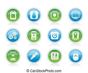 telefone móvel, computador, elementos