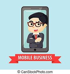telefone móvel, empresário
