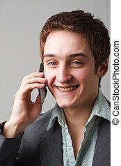 telefone móvel, homem