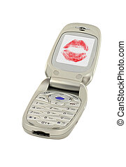 telefone móvel, mensagem, amor