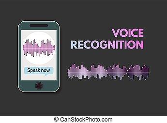 telefone móvel, programa, reconhecimento, voz