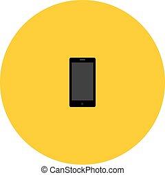 telefone móvel, vetorial, ícone