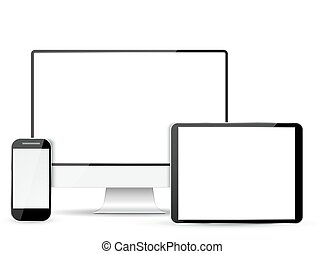 telefone, monitor, computador, jogo, tabuleta, móvel