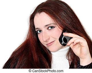 telefone mulher, jovem