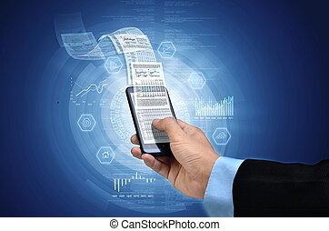telefone, negócio, esperto