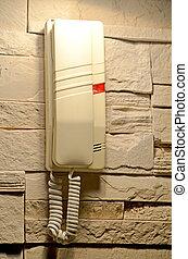 telefone parede, modernos, lar, penduradas