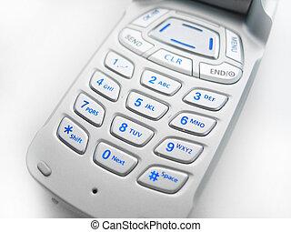 telefone pilha, botões