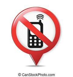 telefone pilha, não, sinal