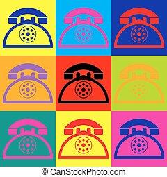 telefone, retro, sinal