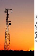 telefone, torre pilha, sil