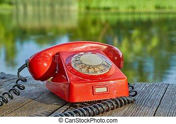 telefone velho, natureza