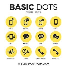 telefone, vetorial, jogo, apartamento, ícones