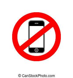 telefone, vetorial, não, sinal