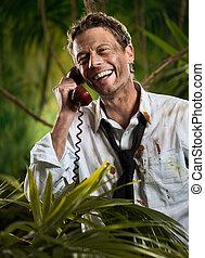 telefonema, em, selva, selva