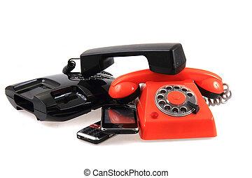 telefoner, gammal, kollektion