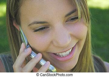 telefoner. kvinde