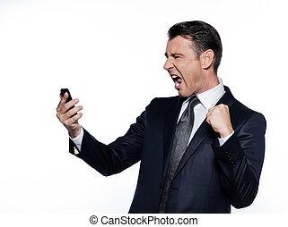 telefoner., pæn, branche mand