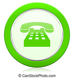 telefonera ikon, underteckna, telefon